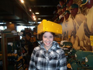 I was a cheesehead for two seconds at Lambeau Field in Green Bay, WI