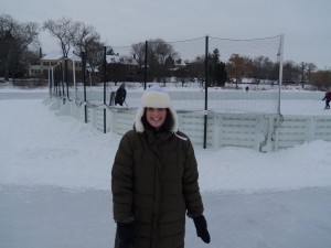 Skating at Lake of the Isles in Minneapolis on New Year's Day.