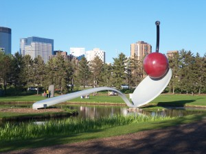 Cherry in the Spoon at the Minneapolis Sculpture Garden.