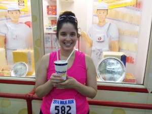 Post-race vanilla malt!